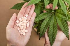 Cannabis och medicin Arkivbilder