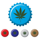 Cannabis plant bottle top Royalty Free Stock Images