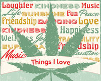Cannabis poster illustration Stock Images