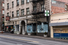Cannabis Retail Storefront Portland Stock Image
