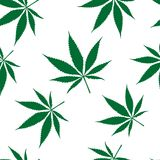 Cannabis seamless pattern Stock Photography