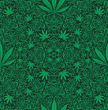 Cannabis seamless pattern Royalty Free Stock Image