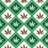 Cannabis seamless texture Royalty Free Stock Photo