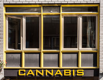 Cannabis shoppar Arkivfoto