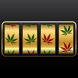 Cannabis slot machine Royalty Free Stock Photography
