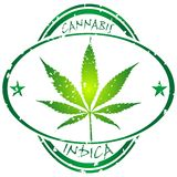 Cannabis stamp Royalty Free Stock Photography