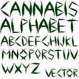 Cannabis vector alphabet Stock Photo