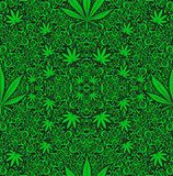 Cannabis weed. Weed style fashionable mascot  photo image cannabis pattern green rasta Stock Images