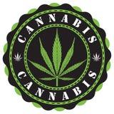 Cannabisembleem Royalty-vrije Stock Foto's