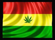 cannabisflagga Royaltyfria Bilder