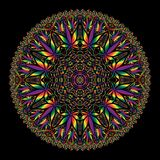 Cannabismarihuana Ingewikkelde Mandala stock illustratie