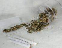 Cannabissigaretten Royalty-vrije Stock Foto