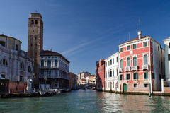 Cannaregio canal, venice. View along the cannaregio, from the grand canal in venice Stock Images