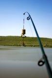 Canne à pêche avec le plancton Images stock