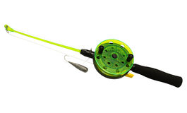 Canne à pêche pour la pêche d'hiver photos stock
