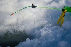 Canne à pêche pour la pêche d'hiver Photographie stock libre de droits