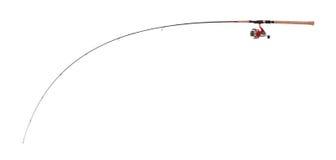 Canne à pêche ultra légère incurvée pour les poissons prédateurs contagieux Image libre de droits