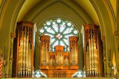 Canne d'organo in balcone Immagine Stock Libera da Diritti