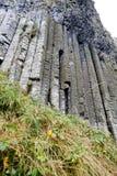 Canne d'organo della strada soprelevata esagonale di Giants delle rocce Fotografia Stock
