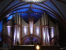 Canne d'organo di Montreal della basilica di Notre-Dame fotografia stock