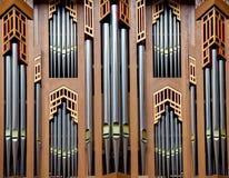 Canne d'organo - organo nella cattedrale di Bruxelles fotografia stock