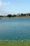 Canne da pesca da acqua Fotografia Stock Libera da Diritti