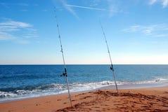 Canne da pesca della spuma immagini stock libere da diritti