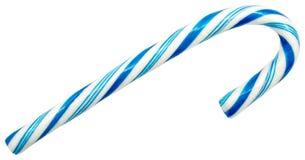 Canne de sucrerie bleue Photos libres de droits