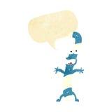 canne de sucrerie de bande dessinée avec la bulle de la parole Photographie stock libre de droits