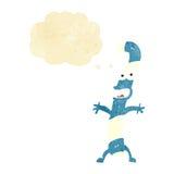 canne de sucrerie de bande dessinée avec la bulle de pensée Photos libres de droits