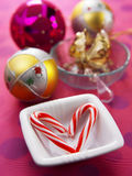 Canne de sucrerie de Noël Photo stock