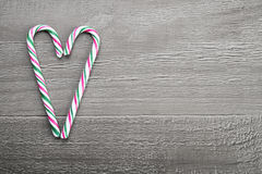 Canne de sucrerie de Noël Photos stock