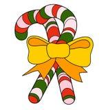 Canne de sucrerie de Noël Images stock