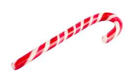 Canne de sucrerie de Noël d'isolement sur le blanc Photo stock