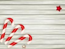Canne de sucrerie de Noël ENV 10 Photo libre de droits