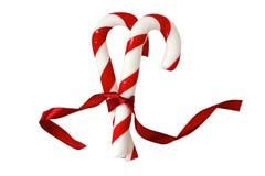 Canne de sucrerie de sucre de Noël Photos libres de droits