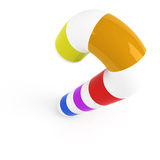 canne de sucrerie multicolore Images libres de droits