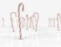 Canne di caramella che si levano in piedi dritte Fotografia Stock
