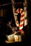 Canne e regali di caramella Fotografie Stock Libere da Diritti