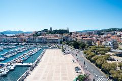 Canne harbour royalty free stock images