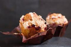 Canneberges et petit pain de raisins secs photo libre de droits