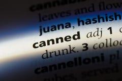 canned arkivbild