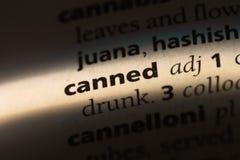 canned royaltyfri bild