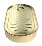 Canned. Tin with canned food on a white background Stock Photography