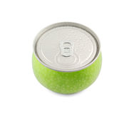 Canned apple isolated Royalty Free Stock Photo