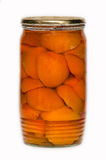 A canned apricots. Stock Images