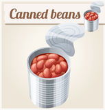 Canned beans. Detailed Vector Icon Stock Photos
