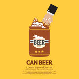 Canned Beer Royalty Free Stock Images
