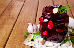 Canned beet slices Stock Photos