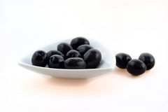 Canned black olives Royalty Free Stock Photo